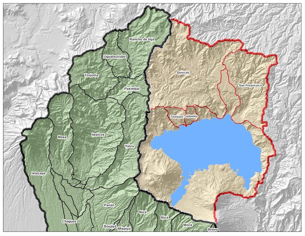 Mapa de Cuencas de Sololá